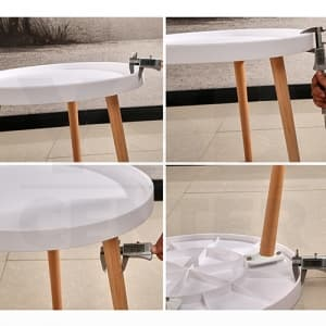 CASSA โต๊ะ โต๊ะกลม สีขาว