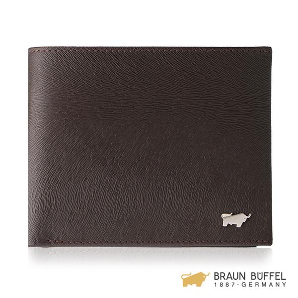 (braun buffel)BRAUN BUFFEL Tiberius-II Series 5 Cards Transparent Window Wallet-Brown BF348-316-ENY