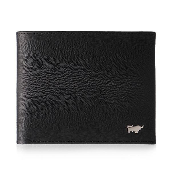 (braun buffel)BRAUN BUFFEL Tiberius-II Series 8 Card Wallet-Black BF348-313-BK