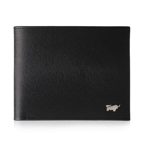 (braun buffel)BRAUN BUFFEL Tiberius-II Series 4 Card Coin Purse Wallet-Black BF348-315-BK