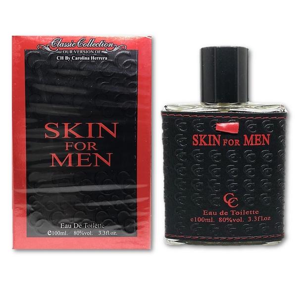 SKIN FOR MEN Classic Eau De Toilette 100ml. น้ำหอมผู้ชายกลิ่นไฮโซอบอุ่นผสานความเซ็กซี่ร้อนแรงน่าค้นหาชวนเข้ามาสัมผัสใกล้ๆ