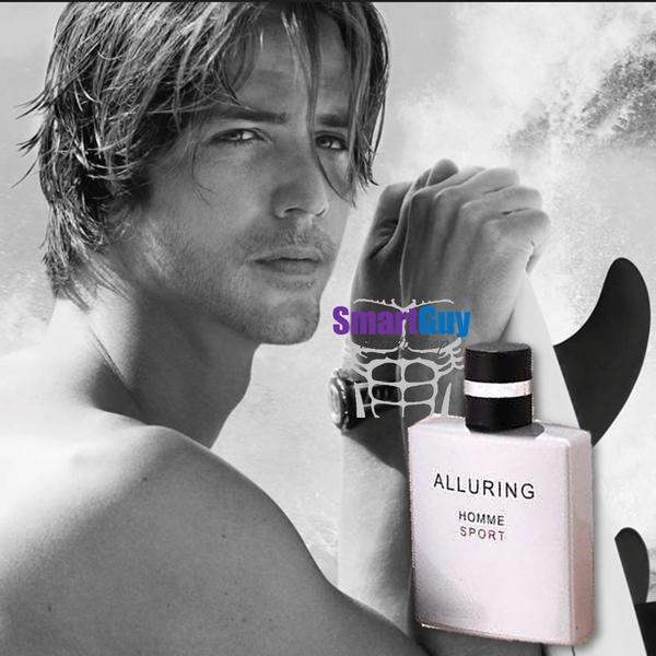 ALLURING Homme Sport Ming Na Eau De Parfum Silver 50ml. น้ำหอมผู้ชายกลิ่นไฮโซหรูหราสปอร์ตแข็งแรงผสานความเซ็กซี่น่าค้นหาสองเท่า