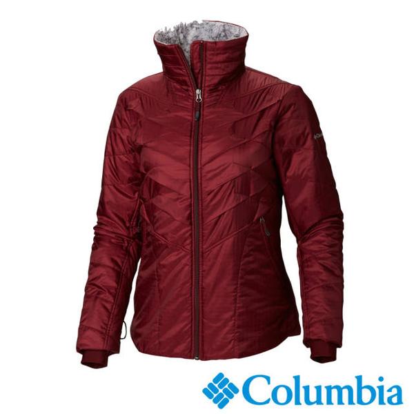 เสื้อแจ็คเก็ตคออุ่นโคลัมเบียผู้หญิงโคลัมเบีย - สีแดงเข้ม UWR40450WE