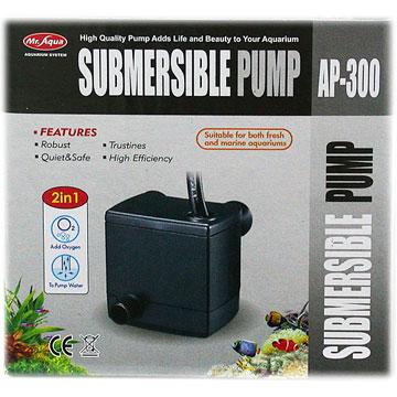 [Mr. Aquarium] Mr.Aqua มอเตอร์ประหยัดพลังงาน AP-300 submersible และเงียบ AP-300 (สำหรับถังขนาดเล็ก)