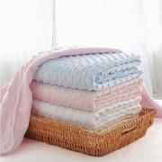เด็กผิวผ่อนคลายระบายอากาศสองฟองผ้าห่มผ้าห่ม