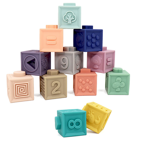 (Leo & Friends)Leo & Friends embossed soft plastic building blocks