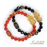 【Selene】สร้อยข้อมือเสริมความเจริญรุ่งเรือง เงินทองและโชคลาภ (มีให้เลือกสองสี S)