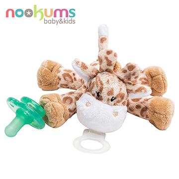 ทารกสหรัฐ nookums รูปร่างน่ารักจุกนมหลอก / ตุ๊กตา - ยีราฟสีน้ำตาล