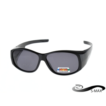 Widened type can be coated with myopia glasses [S-MAX brand] UV400 sunglasses anti-glare anti-reflective PC grade Polarized lenses