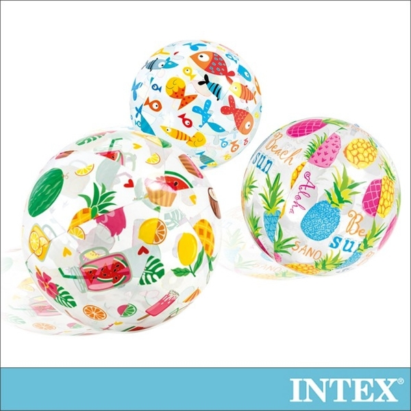(INTEX)INTEX tropical wind beach ball diameter 51cm (scheduled shipment) (59040)