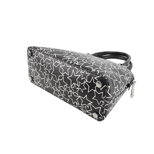 MICHAEL KORS star pattern leather portable scratch / messenger bag (small / black)