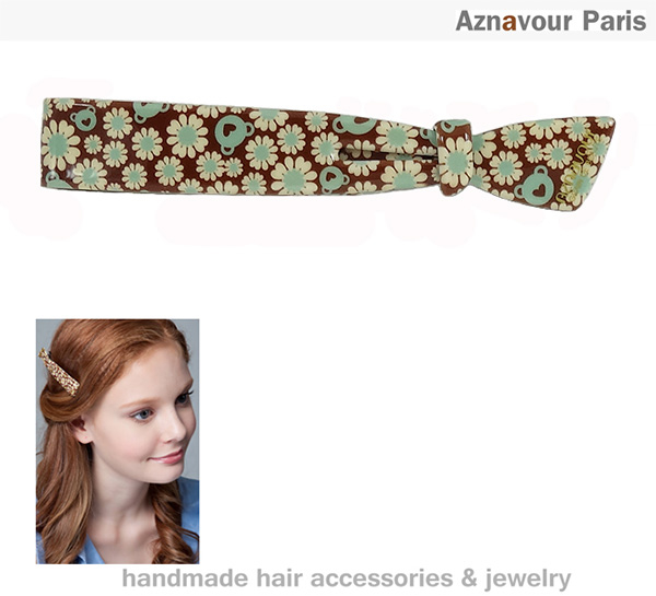 (Aznavour)[Aznavour] ribbon shape long clip (Daisy)