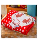 คู่หนาหิมะมิงค์ผ้าห่มตัวผู้นุ่มผ้าขนสัตว์ชนิดหนึ่งทารก (100x135cm) ครอบครัวซน - สีแดง