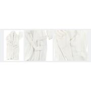 การนอนหลับสำหรับผู้ใหญ่เสื้อคลุมอาบน้ำแบบ dual - สีขาวมุก