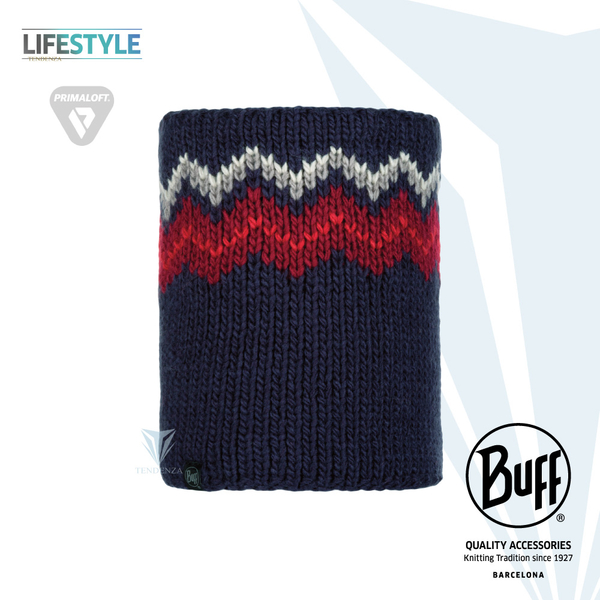 [BUFF] Lifestyle BFL116020 knitted thermal scarf jagged blue DANKE