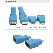 HDMI 1.5M วิดีโอความละเอียดสูงและชุดอะแดปเตอร์ส่งสัญญาณเสียง (สีม่วง)