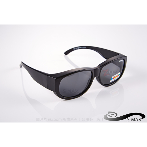 Wide models! [Agency] S-MAX can be coated glasses in! It can also be worn directly! Top Polarized polarized sunglasses! (Extreme matte black)