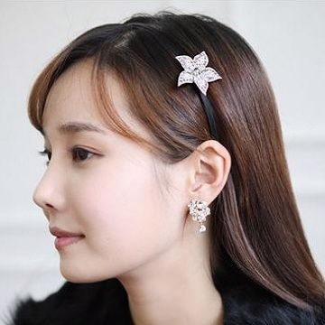 (charme)Charme Korea spent five new diamond hair-hoop silver