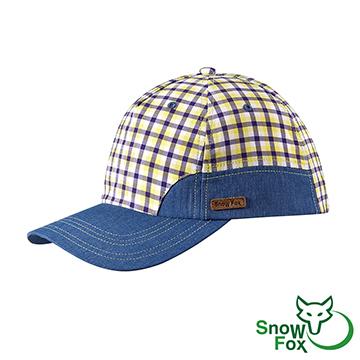 [SnowFox Xuehu] UV ทนการท่องเที่ยวพักผ่อนกลางแจ้งภายใต้ calotte เป็นกลาง (ดวงอาทิตย์ / ระบายอากาศ / wicking / หมวก CA-21519 เซลล์สีเหลืองสีฟ้า)