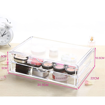 [Cosmetics] by crystal clear bilayer cosmetic accommodating small objects storage box