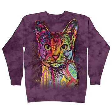 (The Mountain)Moda [off] US imports The Mountain colored cat Houmian casual sweatshirt