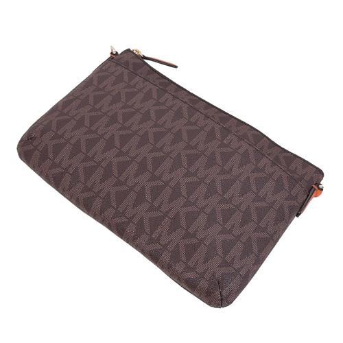 MICHAEL KORS JET SET TRAVEL full version of the messenger bag (orange / attached Clutch)