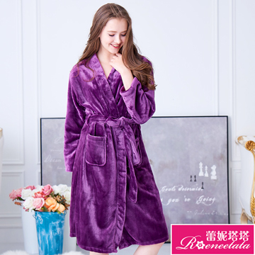 (Reneetata)Leinitata very warm soft velvet mink female long-sleeved bathrobe (29242) Putao Zi