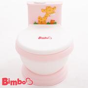 【BIMBO】โถส้วมเด็ก โถสำหรับฝึกขับถ่าย ผลิตในไต้หวัน - สีชมพูอ่อน