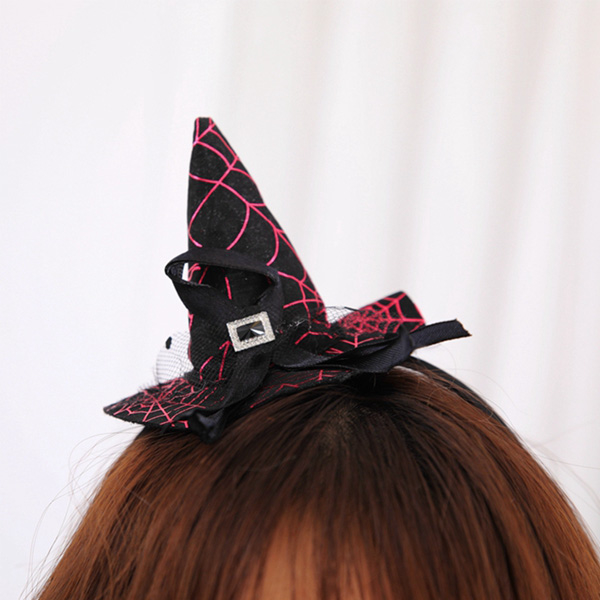 [Fun] dressing style witch hat purple hair band _