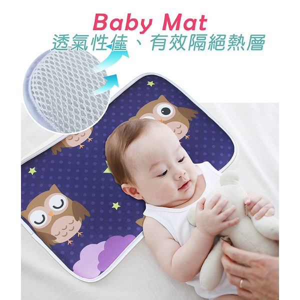 Top breathable 3D baby cooling pillow(45x30x2.5cm) _ Owl