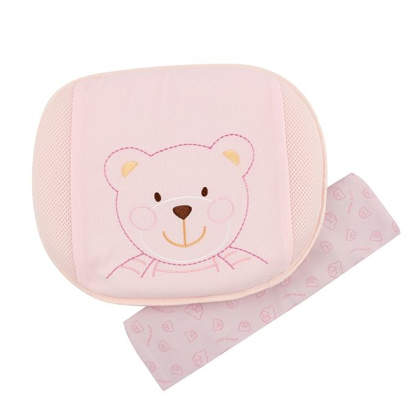 (LOVE WORLD) 3D ultra breathable protective pillow (Pink)