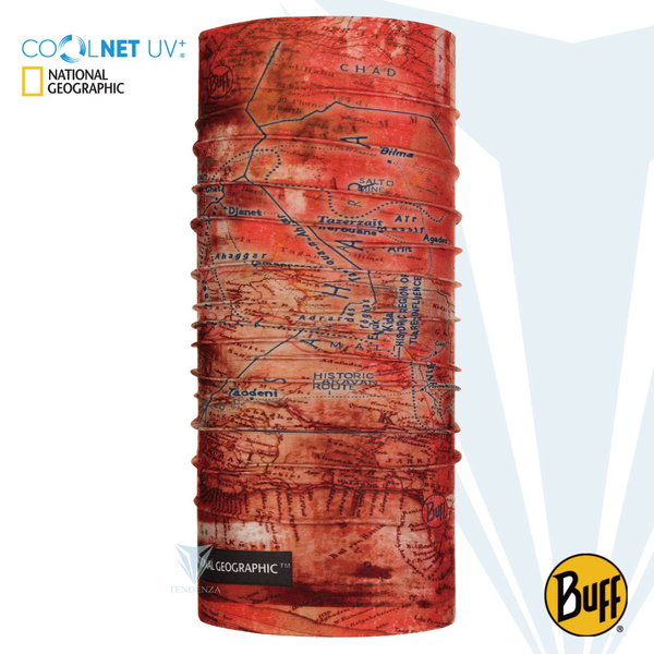 [BUFF] BF120100 National Geographic authorized coolnet anti-UV scarf - rust nomadic