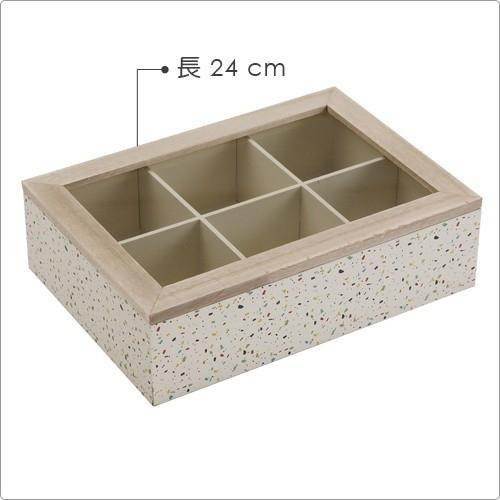 VERSA กล่องไม้เก็บถุงชา (ลายจุดสีรุ้ง)