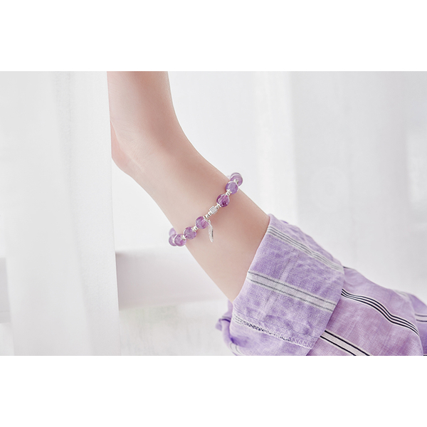 (goodgoodluck)Dreamwing Amethyst Bracelet