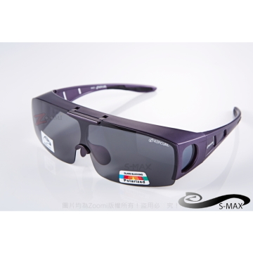 [S-MAX brand] Agency lenses can lift! Can be coated glasses in! Top Polarized Polaroid polarized sunglasses! Calm matte purple!