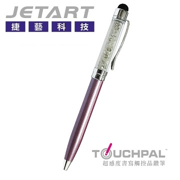 [JETART Jie Arts and Technology] super-sensitivity of the touch pen to write dual-crystal diamond (purple) TP4640