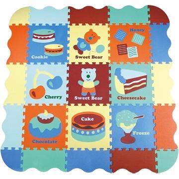(BabyTiger)! [MIT] BabyTiger Tiger treasure children in Taiwan's top games crawling mat - Manor series mats (Sweetheart Blue Bear)