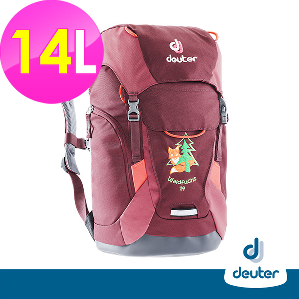(ATUNAS)[Germany deuter] WALDFUCHS children's backpack 14L (3610117 deep red / school bag / leisure / mountaineering / outdoor)