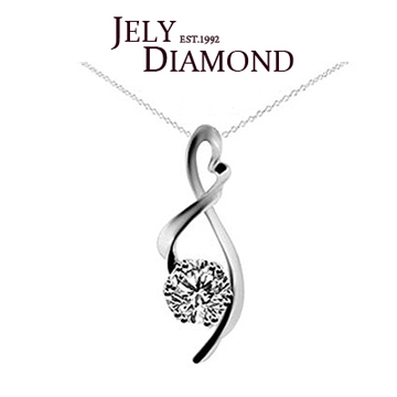 (JELY)[JELY] notes dancing 10 diamond pendant chain