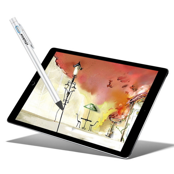 [eFashion fashion silver] TP-A21 Metal Active Capacitive Stylus (with USB charging cable)