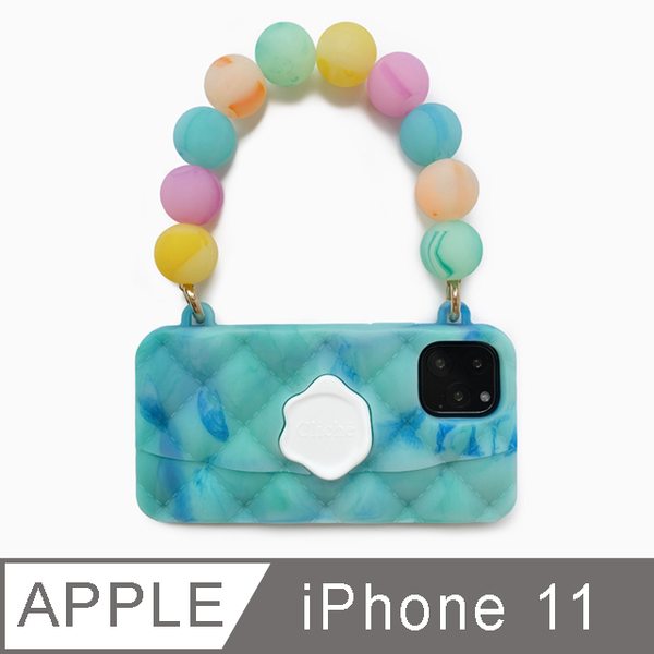 (candies)[Candies] Symphony Beads Dinner Bag (Lake Blue)-iPhone 11