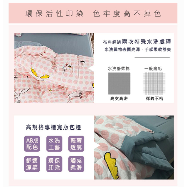 Gentle BELLE VIE washed cotton active printing / double increase Chuangbao cooler are four sets of dimples deer