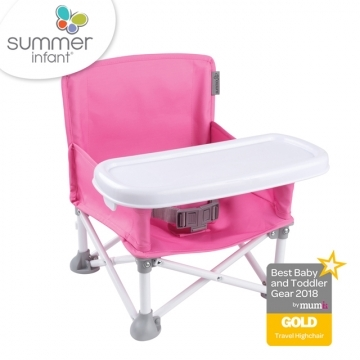 Summer Infant Travel Light Fashion Series - Portable Children's Folding Dining Chair - Pink