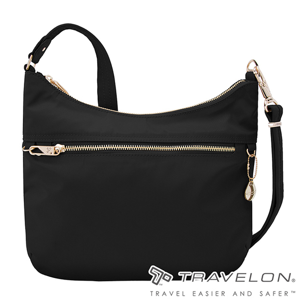 (TRAVELON)[Travelon US anti-theft package] Tailored anti-theft hobo bag (TL-43198 black / cross-body bag / cut-proof steel net / personal security)