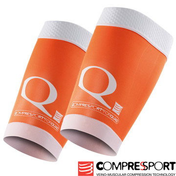 COMPRESSPORT R2 OXYGEN ปลอกขารัดกล้ามเนื้อ (สีส้ม/หนึ่งคู่)