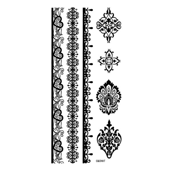 LIL Biatch's X C & CHAT Tattoo - wound flower vine