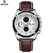 MG2015 สายนาฬิกาหนังปักดิ้นสีขาว