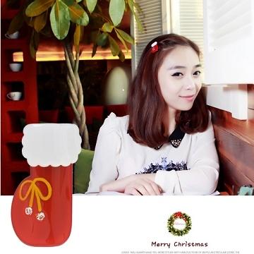 (charme)Charme Korean pop childlike style Christmas series modeling duckbill clip XS05