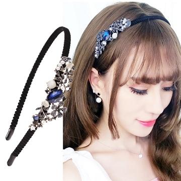(charme)Charme Korea imported retro style flower styling headband - Qionghua jade leaf