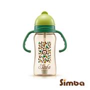 Simba ขวดน้ำดื่มพร้อมสายดูด สีเขียวลายพราง 240 มล.